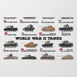 World War II Tanks Rug