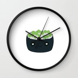 Sushi with green caviar Wall Clock