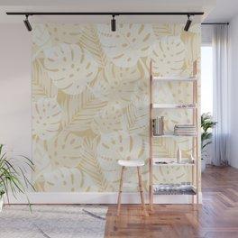 Tropical Shadows - Beige / White Wall Mural