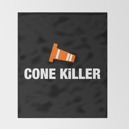 Cone Killer v3 HQvector Throw Blanket