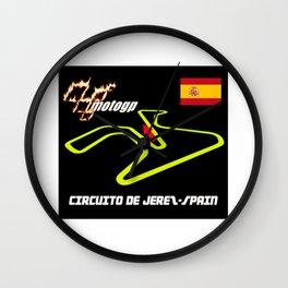 DE JEREZ CIRCUIT MOTOGP Wall Clock