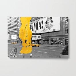 NYC Yellow Cabs - Musical II - Brush Stroke Metal Print