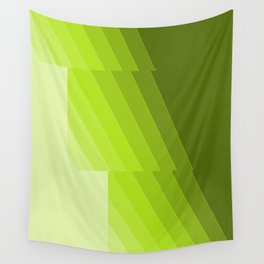 Gradient Green repetition Wall Tapestry