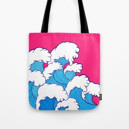 As the waves roll in Tote Bag