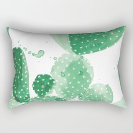 Green Paddle Cactus Rectangular Pillow