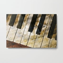 Piano Keys Music Collage abstract Metal Print