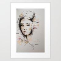 valentina Art Prints featuring Valentina by Oriane Jouët