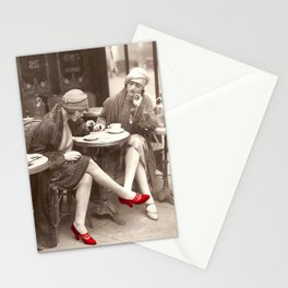 New Red Shoes Vintage Paris Photo Stationery Cards
