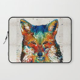 Colorful Fox Art - Foxi - By Sharon Cummings Laptop Sleeve