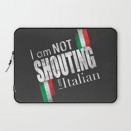 I am not shouting I am Italian - Black and White version Laptop Sleeve