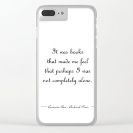 Not completely alone - Will Herondale WHITE Clear iPhone Case