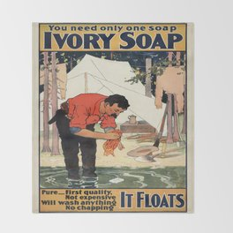 Vintage poster - Soap Throw Blanket