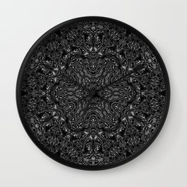 Black and White Kaleidoscope 3 Wall Clock