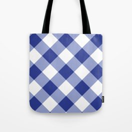 Gingham - Navy Tote Bag