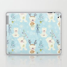 From Bears And Christmas-Cute teal X-Mas Pattern Laptop & iPad Skin