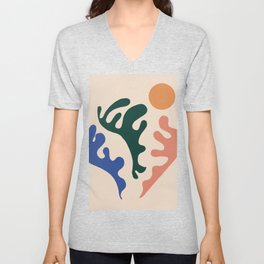 New day contemporary matisse Unisex V-Neck