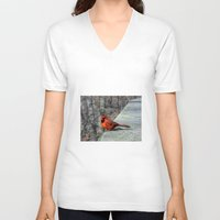 cardinal V-neck T-shirts featuring Cardinal by rise375