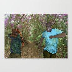 Bear Bow Hunting Canvas Print