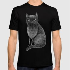 Black Cat X-LARGE Black Mens Fitted Tee