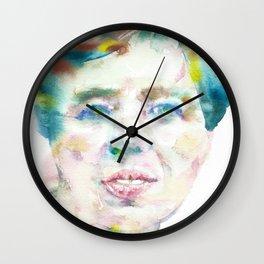 ELEANOR ROOSEVELT - watercolor portrait Wall Clock