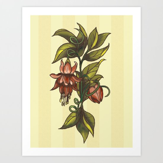 Vintage Flower (2) Art Print