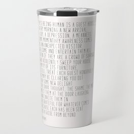 The Guest House #poem #inspirational Travel Mug