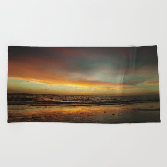 Florida Beach Sunset Beach Towel