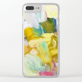 Lots of Feelings Abstract Painting Clear iPhone Case