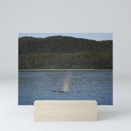 Rainbow Whale Mini Art Print