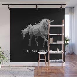 U is for Unicorn Wall Mural