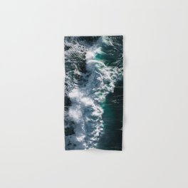 Crashing ocean waves - Ireland's seascapes at sunset Hand & Bath Towel
