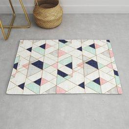 Mod Triangles - Navy Blush Mint Rug
