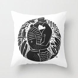 Sailor Kiss Throw Pillow