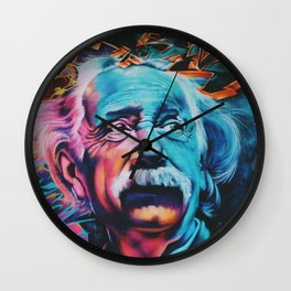 Einstein graffiti Wall Clock
