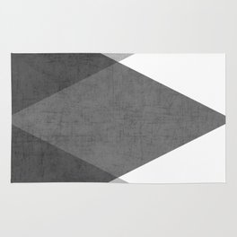 black and white triangles Rug
