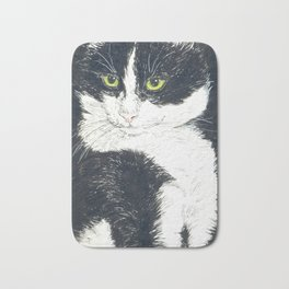 Tuxedo cat Bath Mat