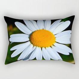 Wild Daisy Overflowing with Pollen Rectangular Pillow
