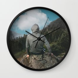 Man and the mountain Wall Clock