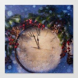Frozen time winter wonderland Canvas Print
