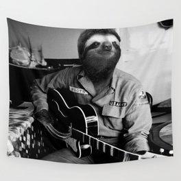 Rockstar Sloth #3 Wall Tapestry
