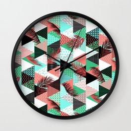 21s Century Memphis Style – Caribbean Wall Clock