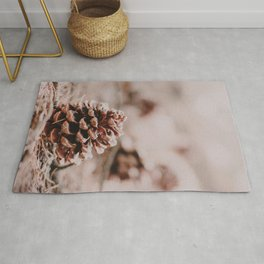 Pinecone in the Woods Rug