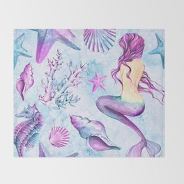 Enchanted Ocean #6 Throw Blanket