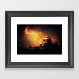 midnight tale Framed Art Print
