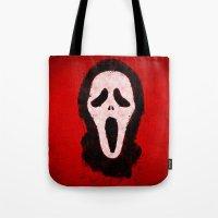 scream Tote Bags featuring Scream by Bill Pyle