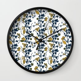 Autumn flowers 2 Wall Clock