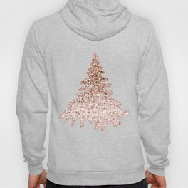 Sparkling christmas tree rose gold ombre Hoody