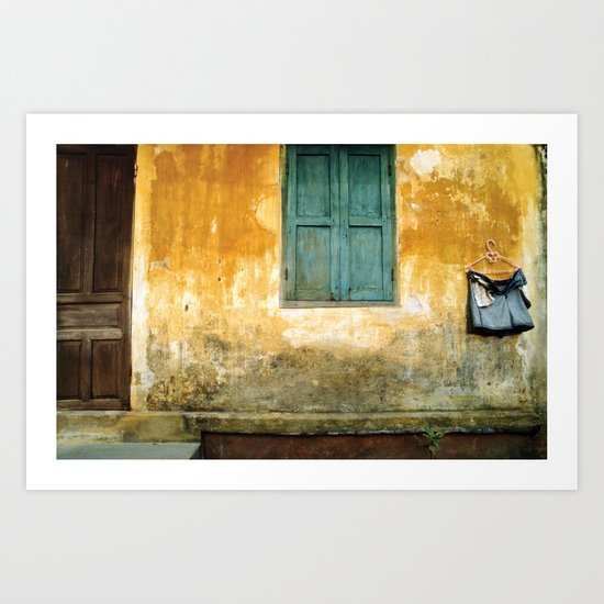 Asian Laundry Day - Hoi An - Vietnam Art Print