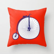 on your bike Throw Pillow