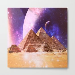Galaxy Pyramids Metal Print